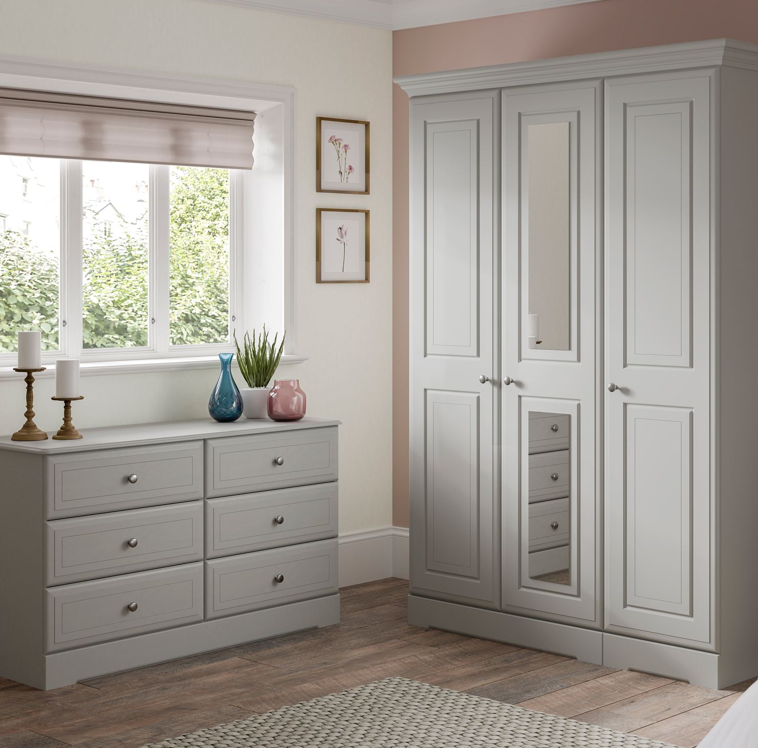 Kingstown Nicole Grey bedroom furniture